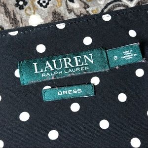 Lauren Ralph Lauren Dresses - Lauren Ralph Lauren Polka Dot Swing Dress Size 6